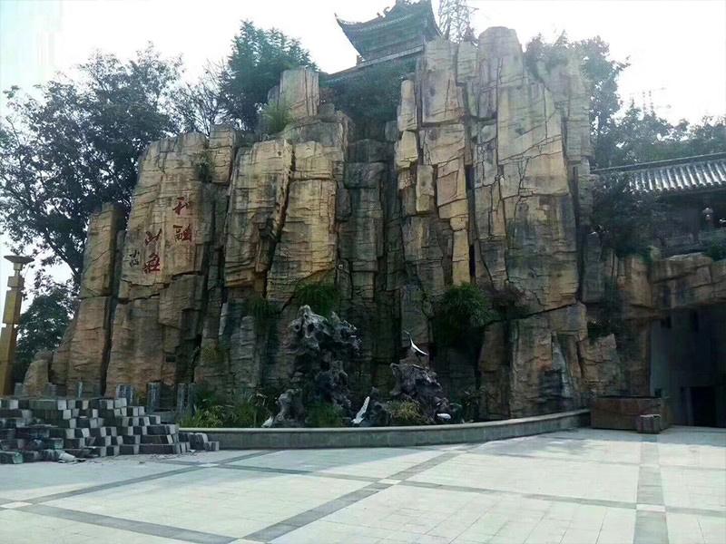 雕刻式塑石假山