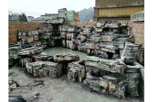济南塑石假山制作